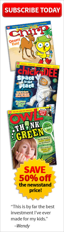 Subscribe to Owlkids and get 50% off the newstand!
