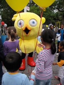 Chirp mascot at Word on the Street.