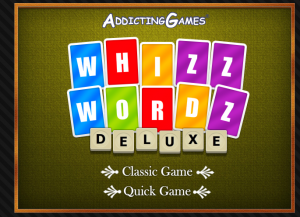 Whizz Words game