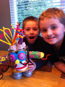 Quinten & Griffin with Recycle Rescue Robot
