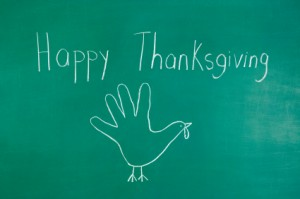 Thanksgiving Turkey Chalk Drawing