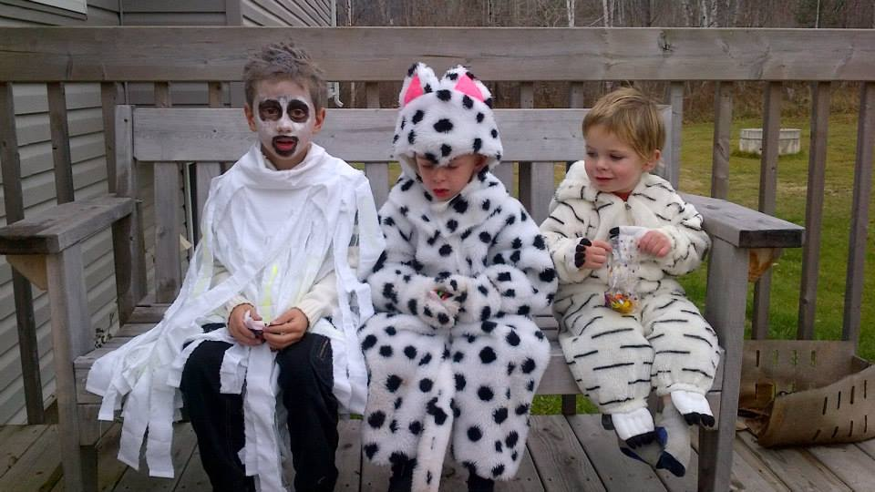 Chirp Halloween Contest winners Jeran Declan Carrick Ghost Dalmation Dragon