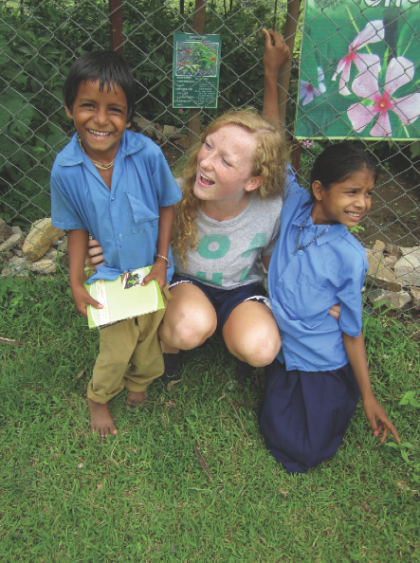 Alison Ross in Lai Gow, India