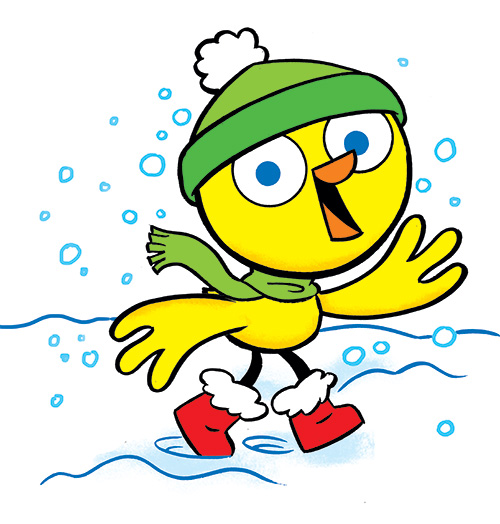 Chirp in winter snow