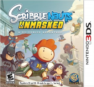 Scribblenauts Unmasked 3DS pack shot