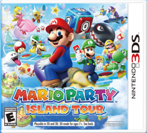 Mario Party Island Tour 3DS game pack shot