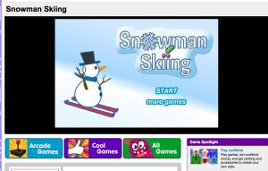 chickadee magazine: snowman skiing