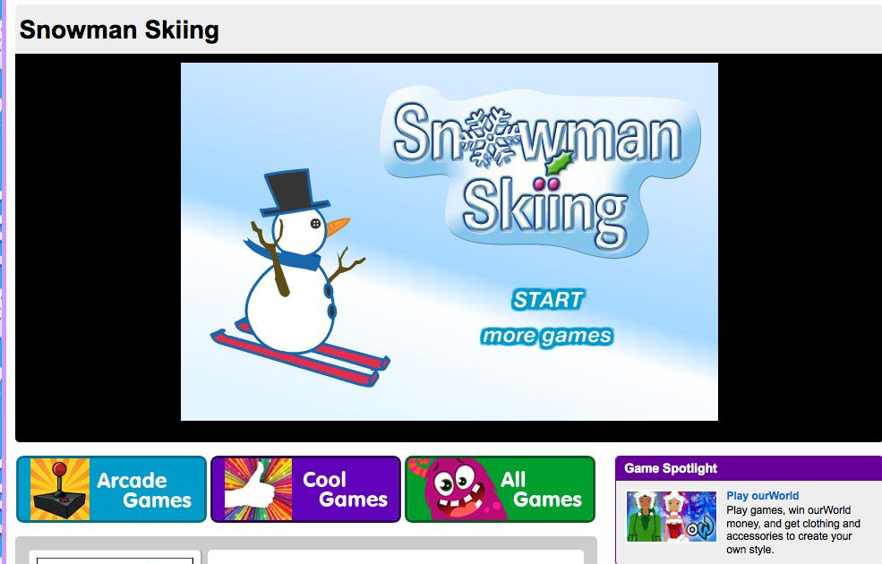 Skiing game Snowman