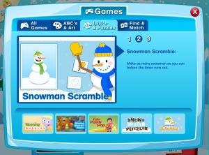 Chirp Magazine Snowman Scramble