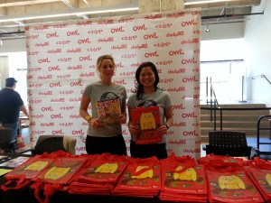 chickaDEE editor Mandy and I gave out free activity bags for AGO Family Sunday