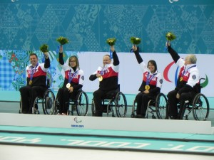 2014 Paralympic Canadian wheelchair curling team