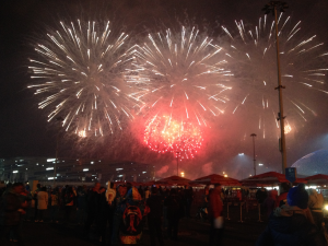 Fireworks display at the 2014 Paralympics