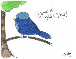 A bird drawing