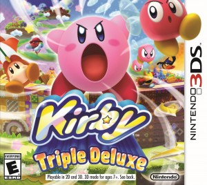 Kirby Triple Deluxe box art for Nintendo 3DS