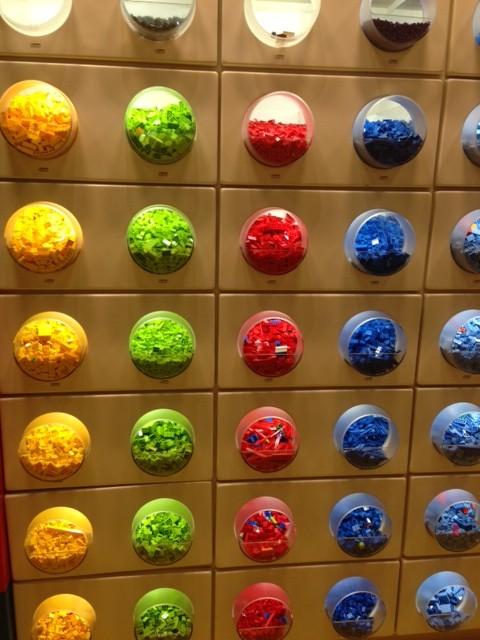 Legoland wall of legos