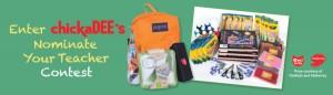 chickaDEE's September 2014 Nominate Your Teacher Contest banner