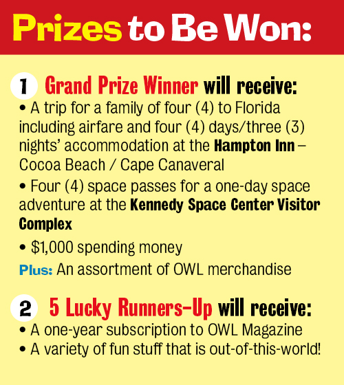 OWL's Out-of-This-World Contest prizes