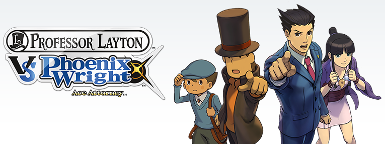 Professor Layton VS Phoenix Wright game pack shot