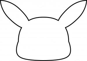 blank Pikachu mask