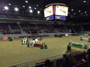 equestrian jumping at royal winter fair