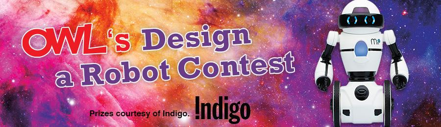 OWL Magazine June 2016 Design a Robot Contest banner