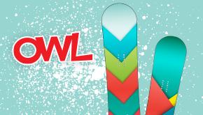 OWL's Design a Snowboard Contest Button