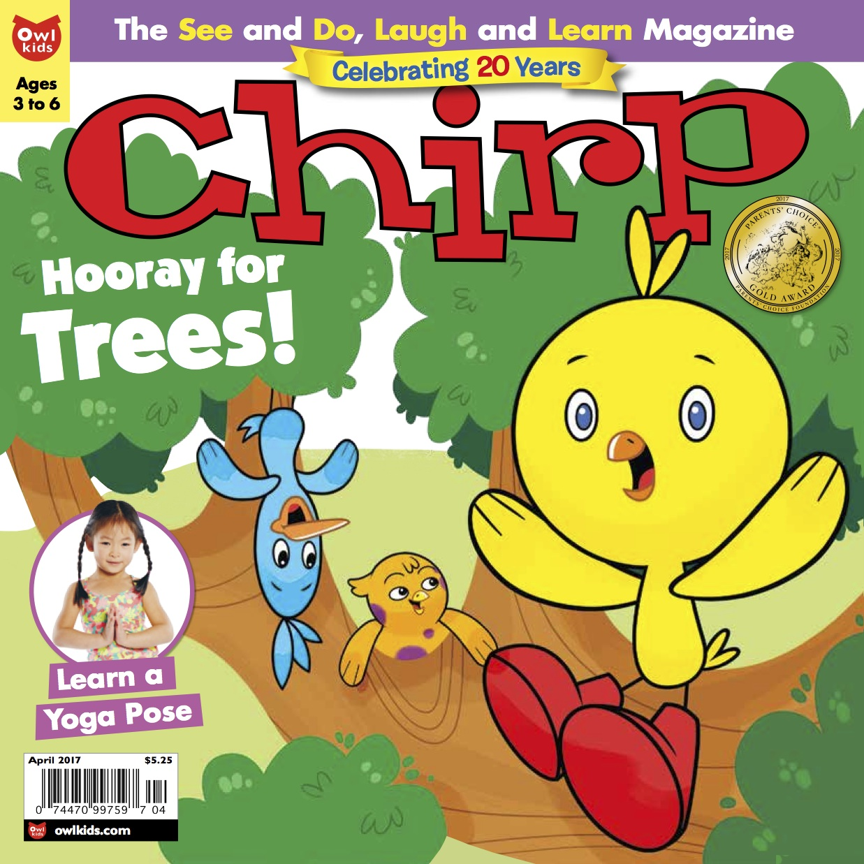 Chirp Magazine April cover