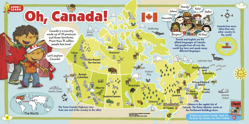 Map Of Canada Kids.Owlkids Canada Map Owlkids