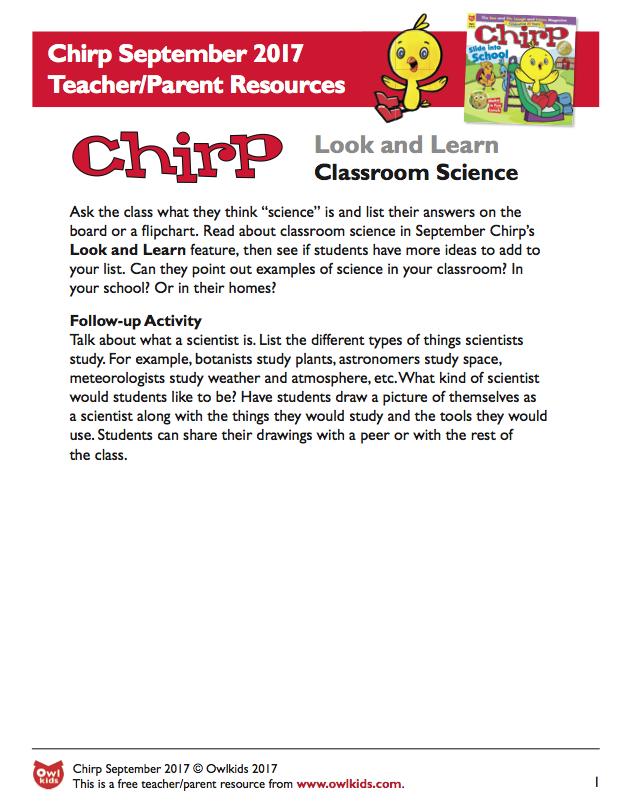 Chirp Magazine: Resource