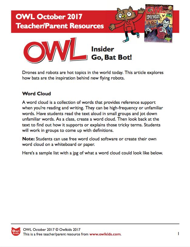 OWL Magazine: October 2017 Resource