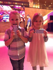 Chirp readers Abbott and Molly with their PJ Mask show tickets.