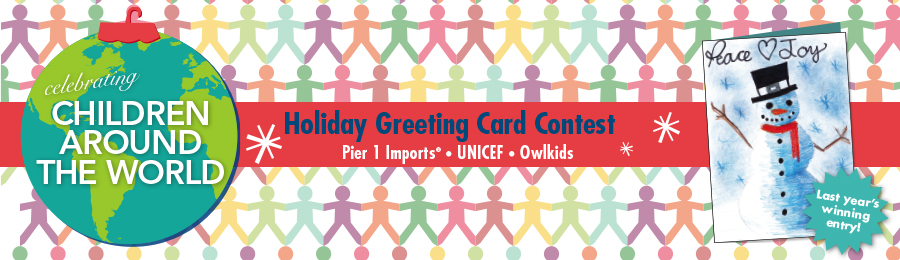 Unicef Christmas Cards.Owlkids Holiday Greeting Card Contest Owlkids