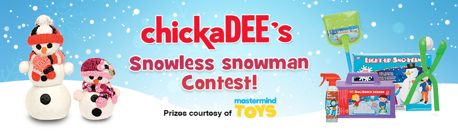 chickadee's snowless snowman contest banner