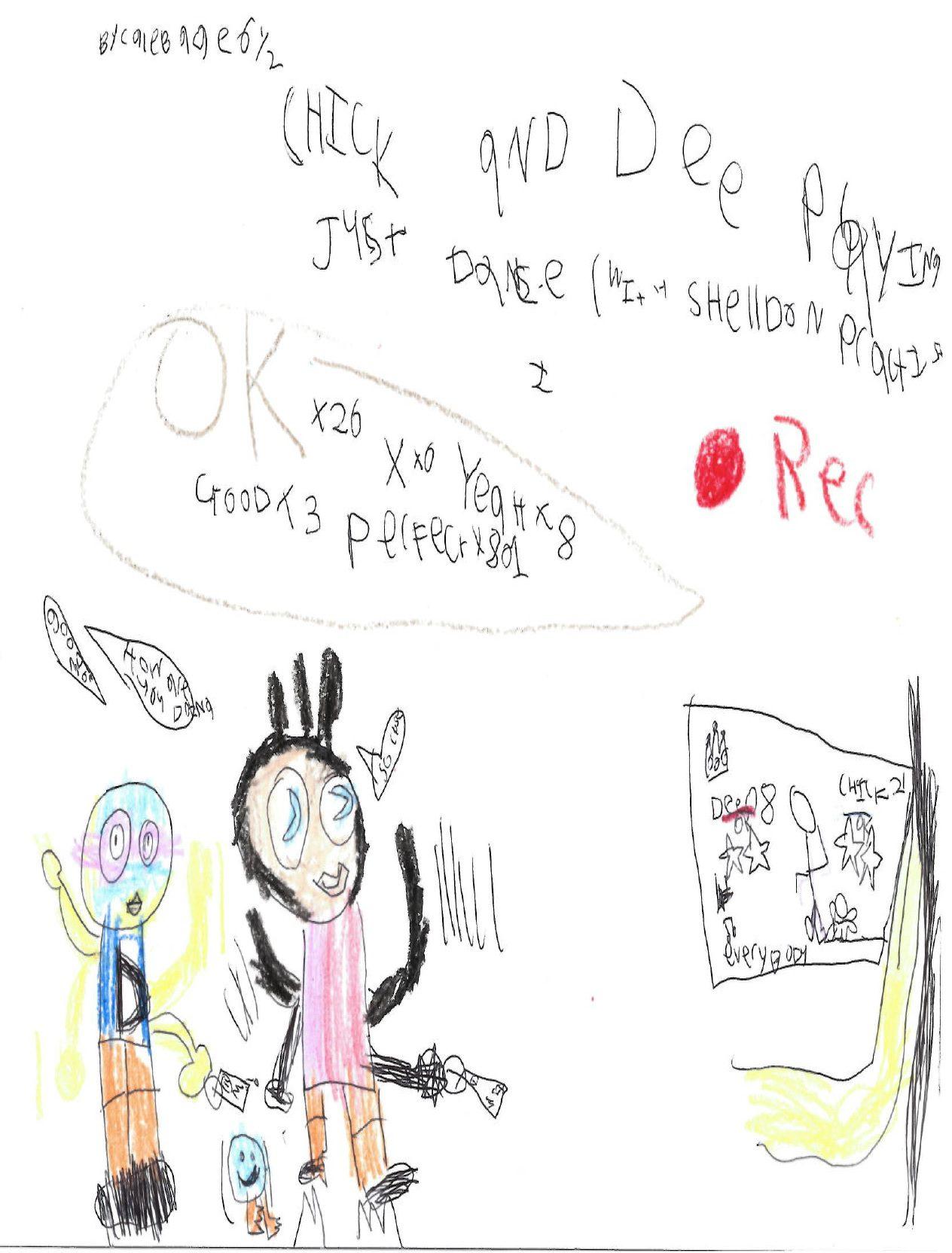 Caleb, 6 - reader art