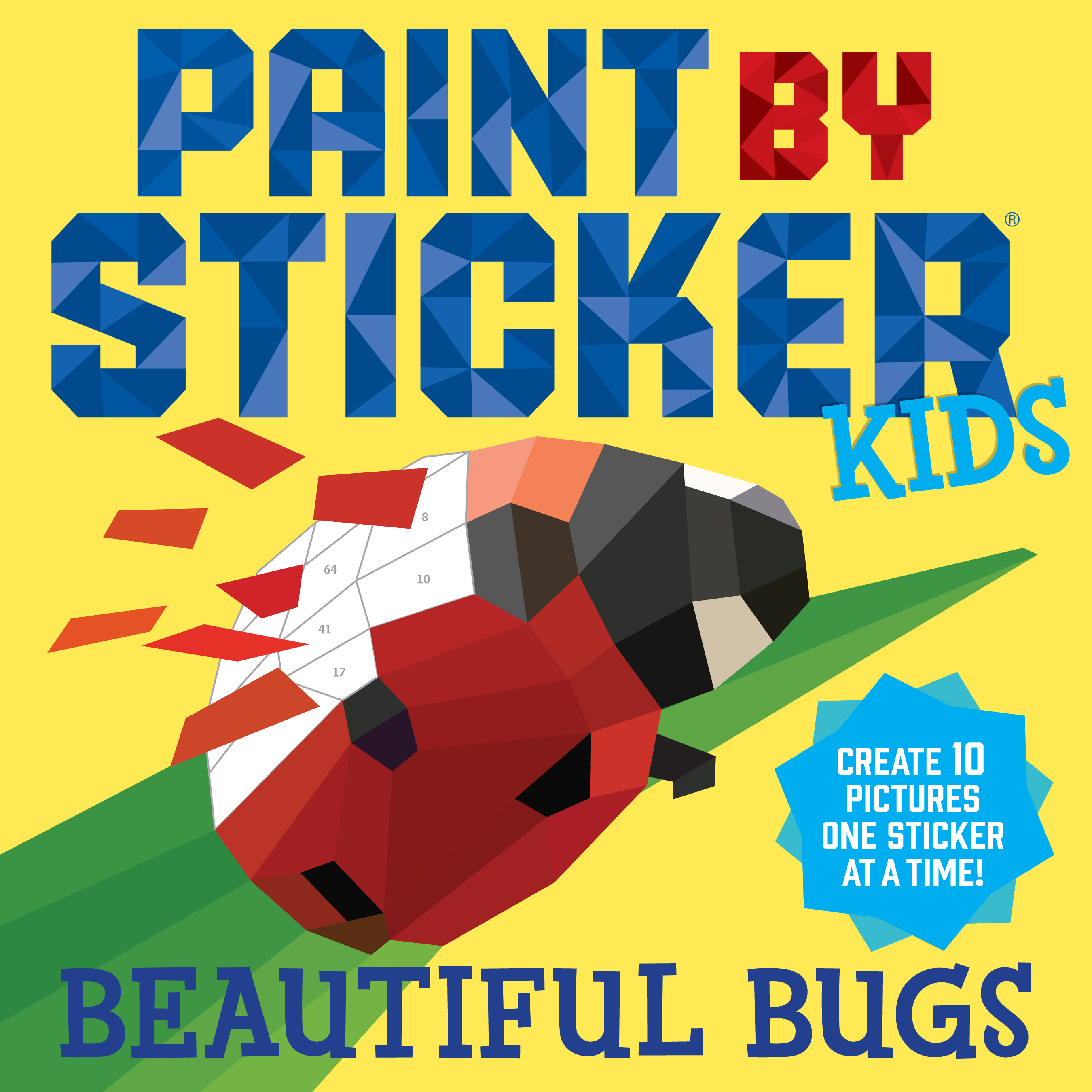 chickaDEE Magazine: Paint By Stickers: Beautiful Bugs