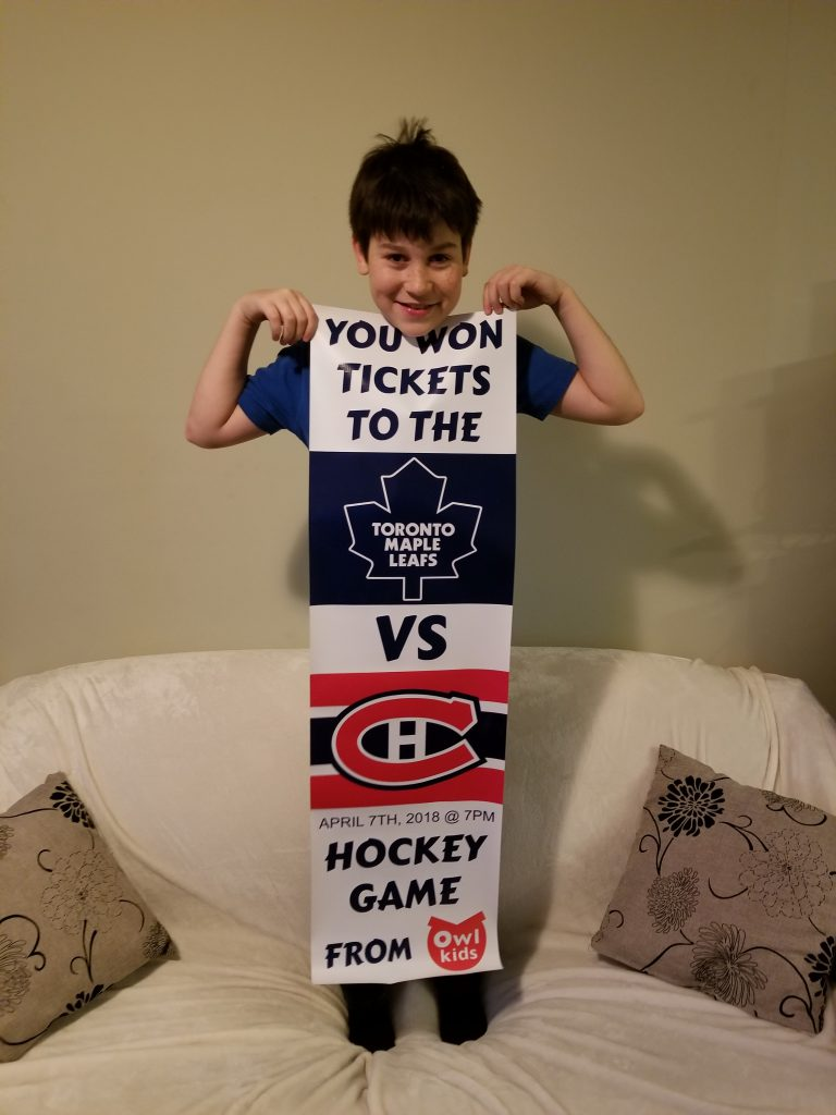 Owlkids hockey contest winner