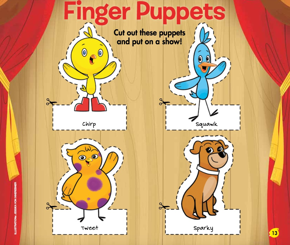 Chirp Magazine: Finger Puppets
