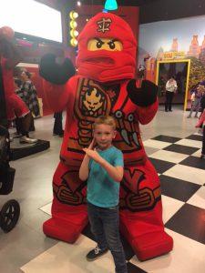 We got to meet Kai, the Red Ninja!