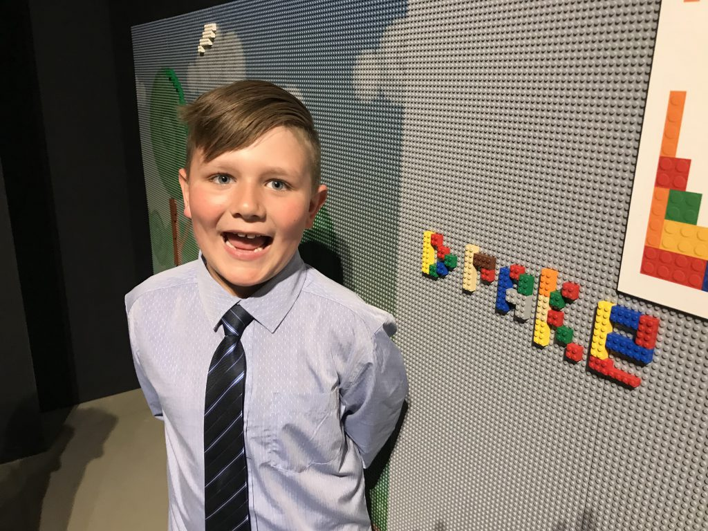 Boy with Lego at Canadian Science and Tech Museum