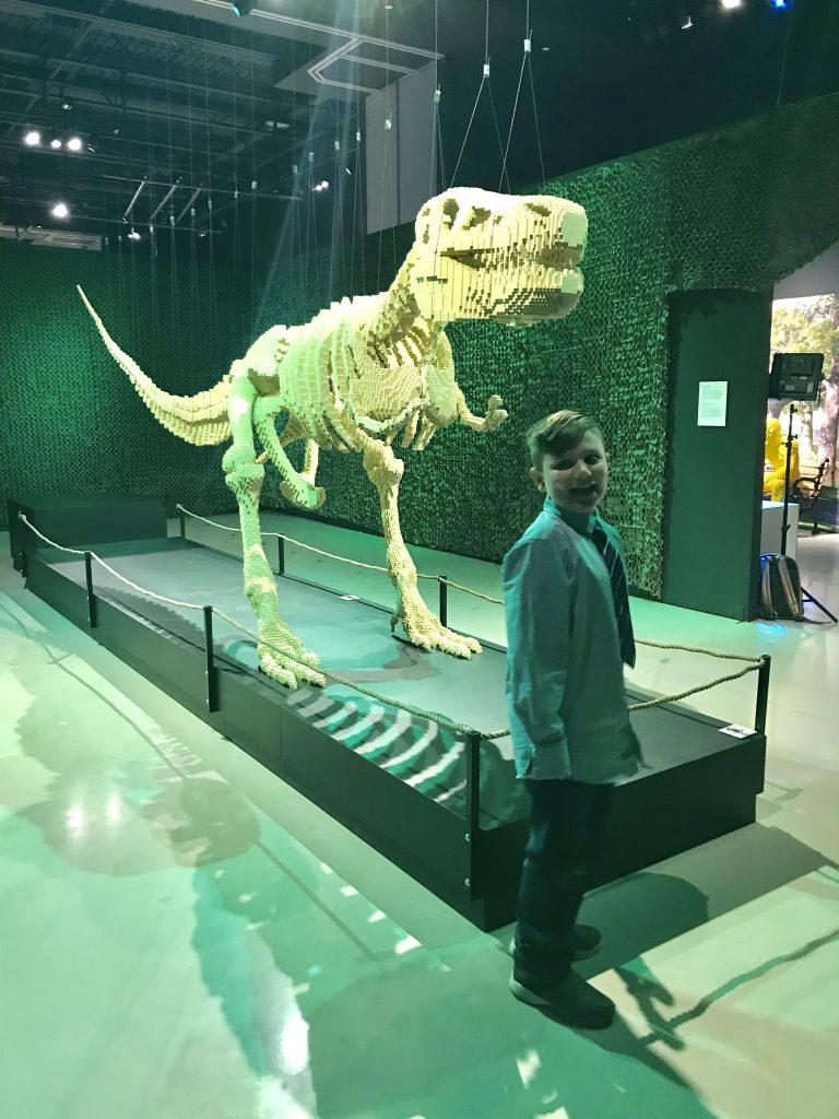 T-rex lego by Nathan Sawaya