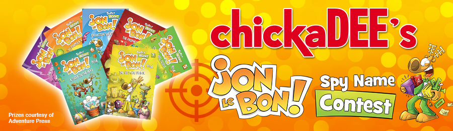 chickaDEE Magazine: Jon Le Bon Spy Name Contest Banner