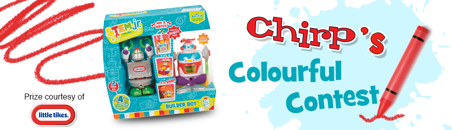 Chirp Magazine: Colourful Contest Banner