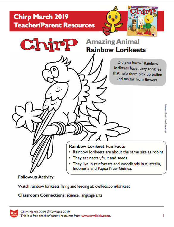Chirp Magazine March 2019 Learning Resource Cover