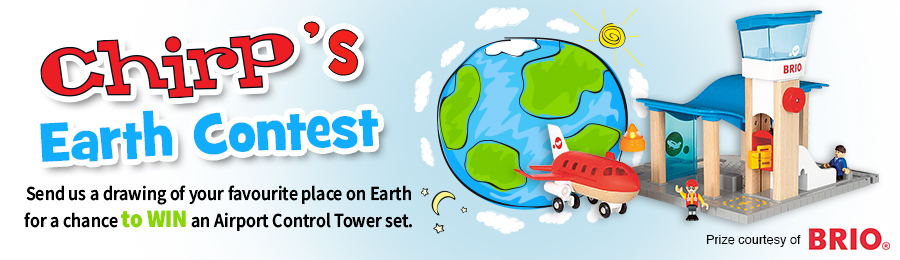 Chirp Magazine: Earth Contest Banner