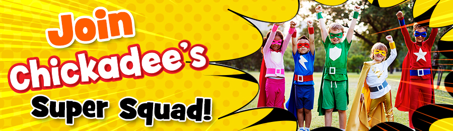 Chickadee Magazine: Super Squad Banner