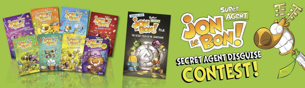 Jon Le Bon: Secret Agent Disguise Contest Banner