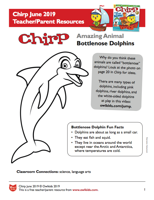 Chirp Magazine June 2019 Learning Resource Cover