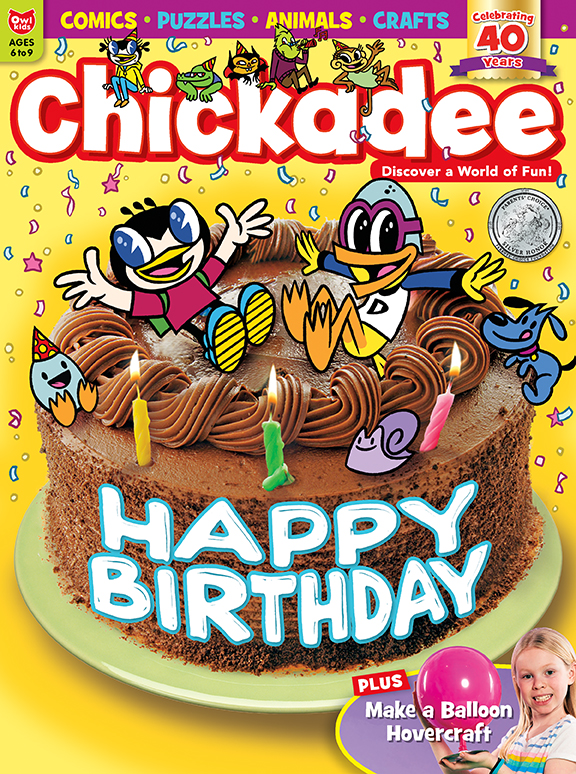 Chickadee birthday cover