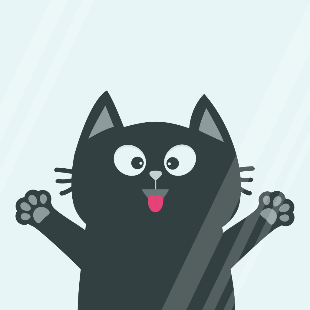 Silly cat illustration