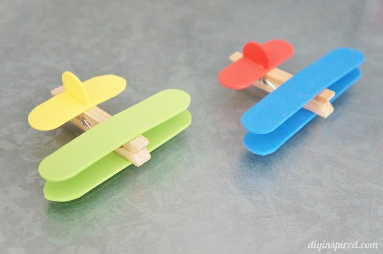 Airplane Clothespin Craft